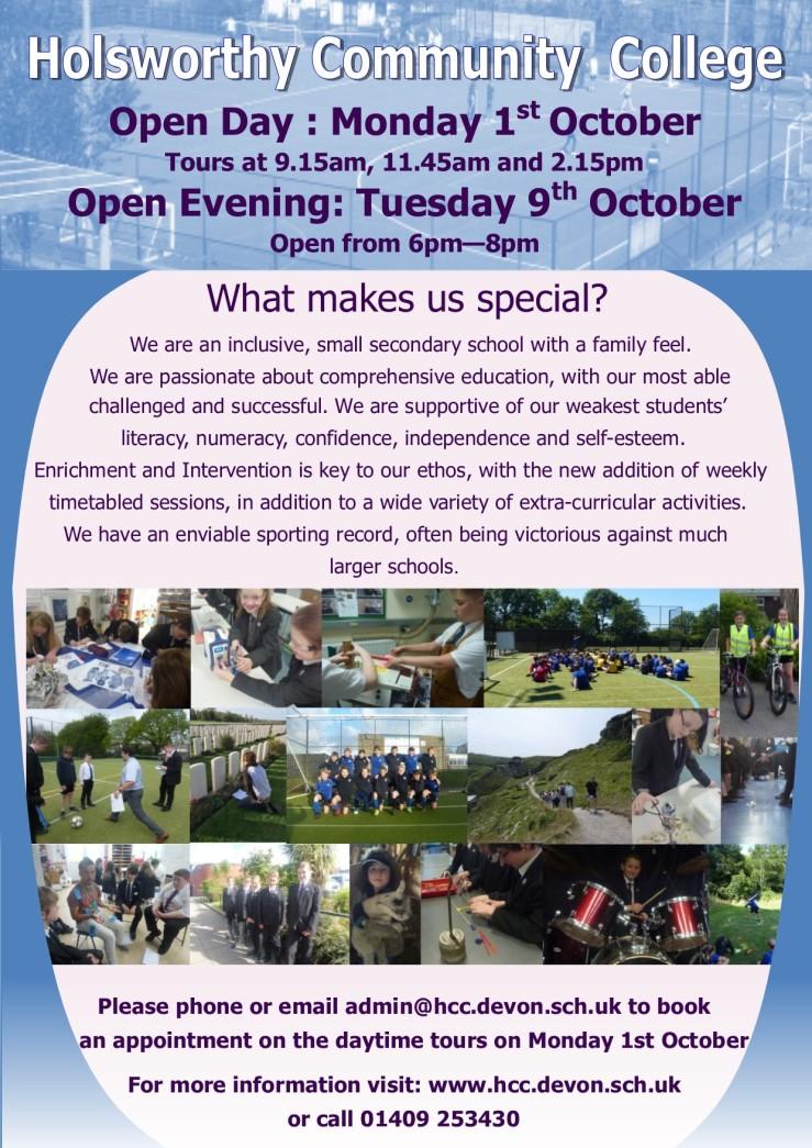 open event flyer Oct 18