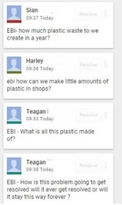 ebi questions