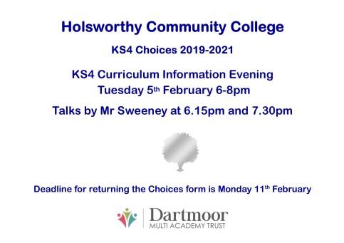 KS4 Curriculum Choices Evening