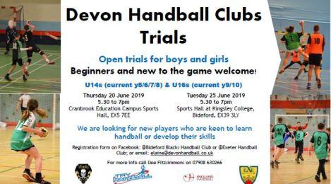 Devon handball clubs