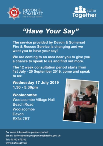 Consultation Venue Poster Woolacombe